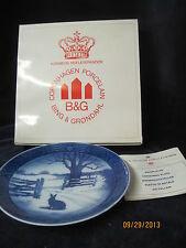 Royal Copenhagen Bing & Grondahl Christmas plate Hare in Winter 1971