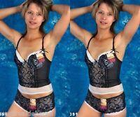 Completo Intimo Donna Corsetto Culotte M-MALA D1391-A501 Coppa B Tg M L XL