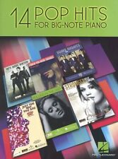 Pop Hits For Big Note Piano Play ADELE Katy Perry Chart Songs Rock Music Book