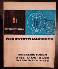 IHC Motoren D155 D179 D206 D239 .... Werkstatthandbuch