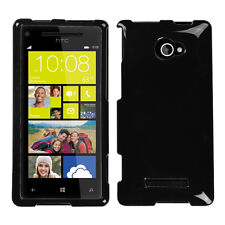 For HTC Windows 8X  HARD Protector Case Snap On Phone Cover Black