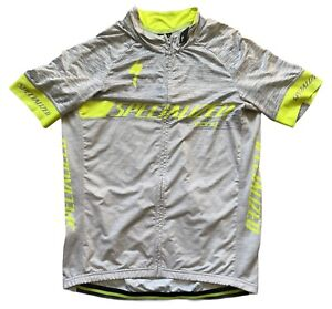 SPECIALIZED SL EXPERT JERSEY SS WOMENS LARGE CYCLING GREY LIGHTLY USED