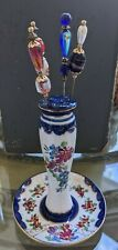 Limoges hat pin holder with 4 hat pins