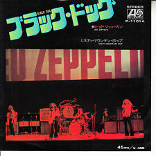 "LED ZEPPELIN  Black Dog & Misty Mountain Hop JAPAN PICTURE INSERT 7"" 45 record"