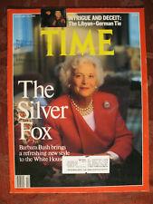 Time Magazine January 23 1989 Jan 1/23/89 Barbara Bush Paul Volcker