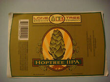 Cool Beer Label STICKER ~ LONE TREE Brewing Co Hoptree IIPA ~ Rooted in COLORADO