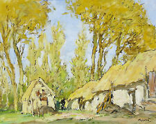 Georges GOBEAU dit GOBO (1876-1958) Peinture:Paysage d'Anjou Angers ou Bretagne