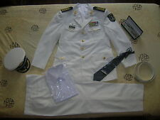 Obsolete 07's series China PLA Navy Man Officer Uniform,White,Set