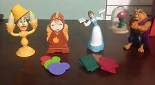 DISNEY/ MCDONALDS BEAUTY AND THE BEAST FIGURES GREAT CONDITION