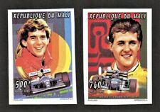 Mali 1995 Formula 1 Cars Ayrton Senna Michael Schumacher Imperf #1459 #1462 MNH