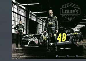 NASCAR SUPERSTAR JIMMIE JOHNSON 2 POSTCARDS LOT