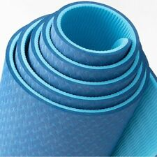 Blue Yoga Mat for Indoor At Home Workout Odorless Yoga Mat for Pilates Yoga