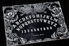 Wooden Black Ouija Board game & Planchette with Instruction. Spirit hunt magick