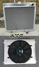 3 ROW Aluminum Radiator & Shroud & Fan for 1963-1969 Ford Fairlane L6/ V8