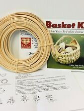 Little Egg Basket Weaving Kit, Basket Making, Weaving Supplies, Reed, Pattern