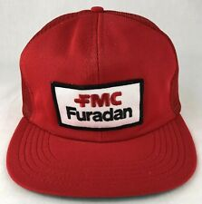 Vintage FMC Furadan Patch SnapBack Trucker Mesh Hat Unilog USA Red