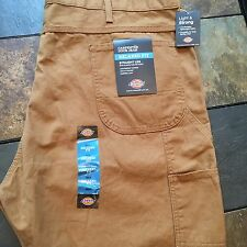 44 X 32 Dickies DARK TAN 1939 Relaxed Fit Carpenter Duck Jean Work Pants