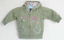 babyGAP Girls Size 6-12 Months Green Long Sleeves Hoody Jacket