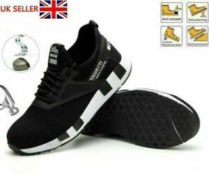 Men Women Lightweight Safety Shoe Steel Toe cap Work boots Shoe Hiking Trainers.
