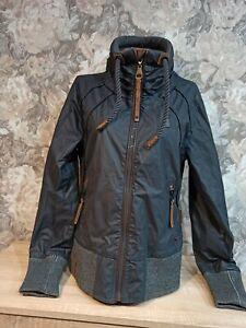 Naketano Women's   jacket blue gray color  size L hooded zip