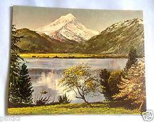 PITTURA DI PAESAGGIO immagine montagna e Lago 50x40 stampa artistica su MDF