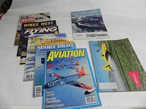 AVIATION MAGAZINES LOT EIGHT ISSUES PILOT FLYING WINGS WEST FLYING FARMER FLIGHT