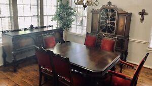 Antique Jacobean Dining Set