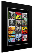 More details for mounted / framed print the clash discography 3 sizes print poster artwork