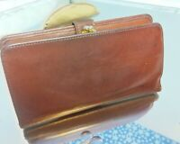 VINTAGE Coach Wallet Saddle Leather Brown Coin Purse Checkbook Credit Bifold