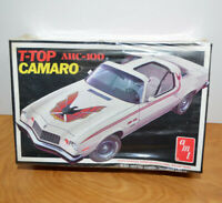 Vintage AMT T-TOP AHC-100 CAMARO Model Kit Sealed 1/25 Scale 1976 2213