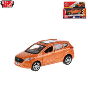 Tehnopark Diecast Vehicles Ford Kuga Orange Russian Toy Cars 12 cm