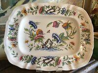 Vintage French Sarreguemines Pottery Platter Rouen