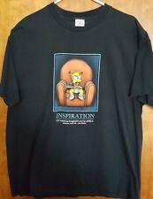 "Simpsons Bart Simpson ""Imagination"" Corporate Poster Parody T-shirt  XL Preworn"