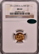 1904 G$1 Lewis and Clark Gold Commemorative NGC MS 62 CAC