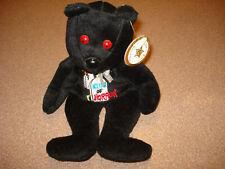 """CELEBRITY BEAR """"King of Horror"""" TEDDY Bean Bag Plush RARE"""