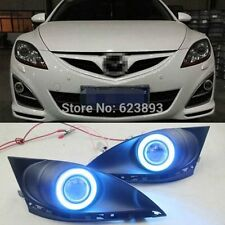 2x Ice Blue LED Daytime Fog Lights Projector angel eye kit For Mazda 6 Atenza