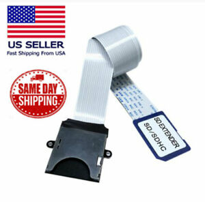 10cm Full-Sized SD Card Extension Cable (SD to SD) Adapter Flexible Extender USA