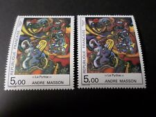 FRANCE 1984, VARIETE COULEURS, timbre 2342, TABLEAU MASSON, neuf**, MNH STAMP