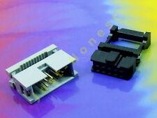 KIT IDC 10 ( 2 x5 ) polig/way Buchse-Stecker Verlängerung Flachbandkabel #A752