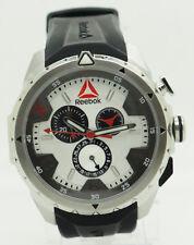 Mens REEBOK RD-IMP-G6-S1IB-1B Impact Chrono Black Silicone Silver Dial Watch