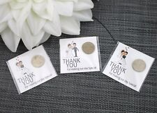 2 Wedding Favours - Luck Sixpence Keepsake Thank You Guest Gift - Only 50p each