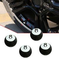 4Pcs Black 8 Ball Car Bike Motorcycle BMX Wheel Tyre Valve Plastic Dust Caps New