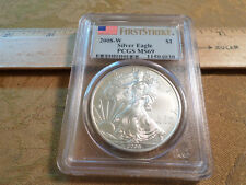 2008-W American 1 Ounce Silver Eagle Coin First Strike PCGS MS69 - Free S&H USA