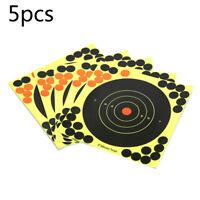 5pcs 8 pouces Splatterburst cibles adhésif cible autocollants chasse tir