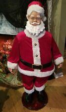 GEMMY ANIMATED SANTA CLAUS 4 FOOT TALL CHRISTMAS SINGS DANCES RARE
