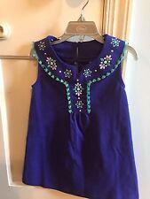 NWT Gymboree Safari Smiles Blue Dress with Aqua Fringe Applique Size 2T