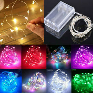 2021 Christmas 2M 5M LED Fairy String Light Battery Operated Holiday Party Decor