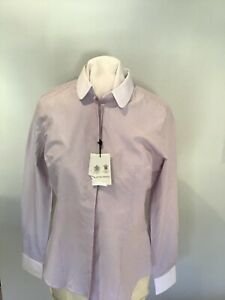 Austin reed womens shirt,lilac pinstripe,sz .10,rrp £69.90
