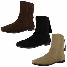 Faux Suede No Pattern Ankle Women's Boots