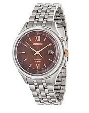 New Seiko Kinetic Men's Brown Dial Stainless Steel Kinetic Watch SKA661
